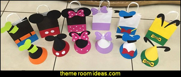 Mickey Birthday Party Bags and Hats Mickey Party Bags Mickey Party Hats Mickey Favor Bags  Mickey Mouse Birthday  Mickey Party