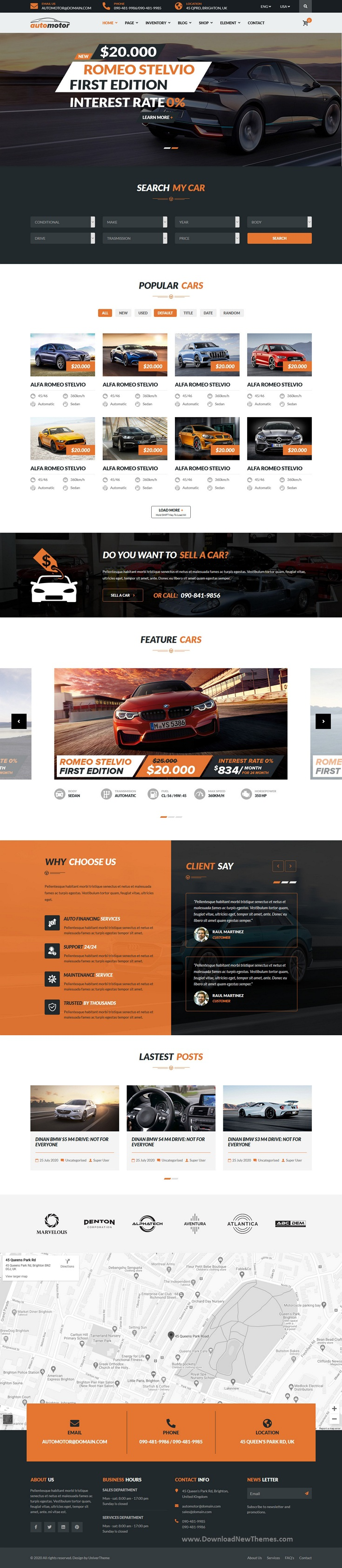 Best Car Dealer & Services Joomla Template