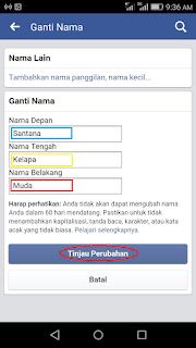 cara merubah nama akun facebook