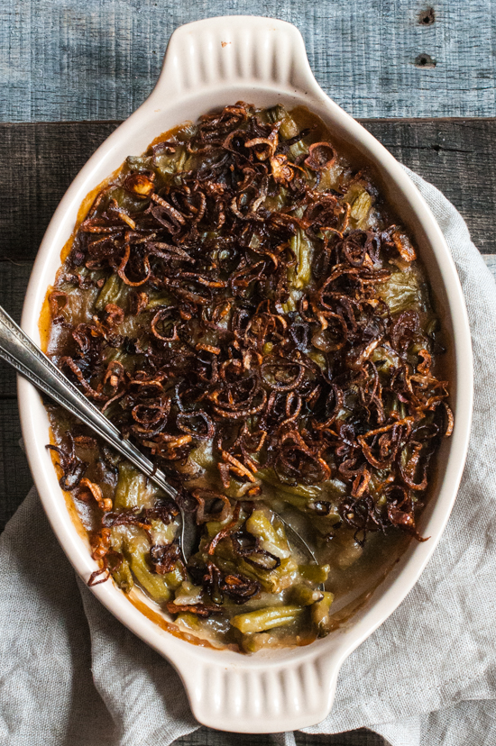 Green Bean Casserole (Paleo, AIP + Green Beans, Nut-free, Whole30)