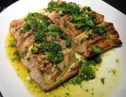Grilled Fish with Mint Sauce