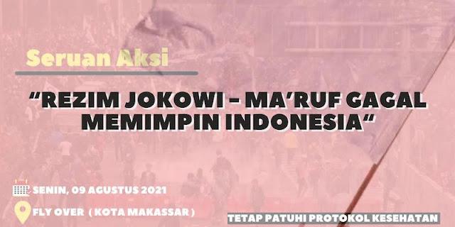 Menyerah Hidup di Bawah Rezim Jokowi-Maruf, Pemuda Makassar Gelar Aksi Kibar Bendera Putih