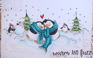 Heather's Hobbie Haven - Warm and Fuzzy Penguins Card Kit