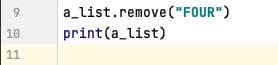 Remove data from a list in Python
