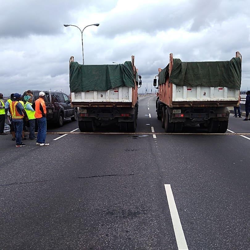 FG Begins Immediate Fixing of 3rd Mainland Bridge - Photos