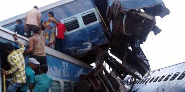 14 Orang Tewas dan Puluhan Orang Terluka Dalam Kejadian Kereta Anjlok di India