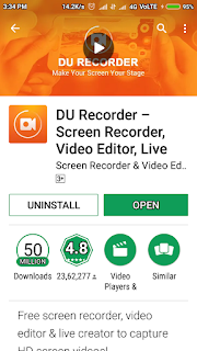 How to use DU Mobile Screen Recoder
