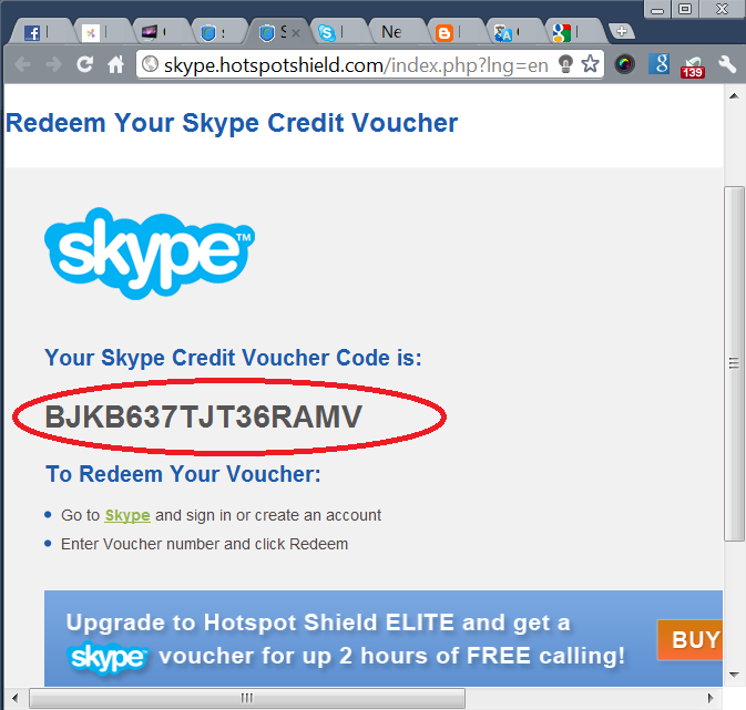Get Free Skype Credit Of 1.02 EURO & Call For 1 Hours