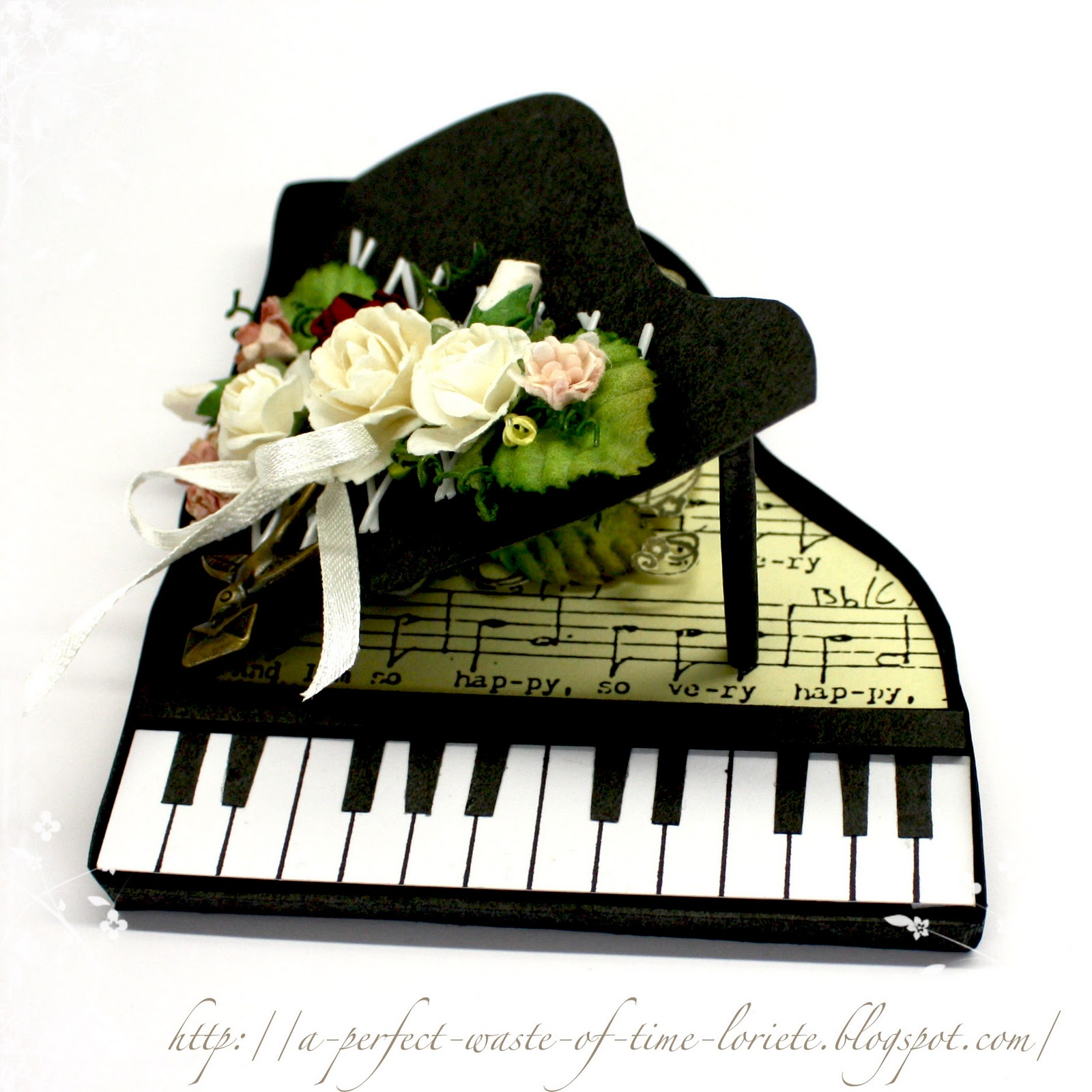 a perfect waste of time piano card. Black Bedroom Furniture Sets. Home Design Ideas