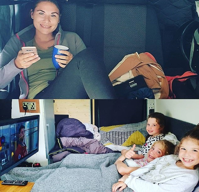A Briton turns a bus into a mobile hotel to save his expenses during camping trips .. Photos