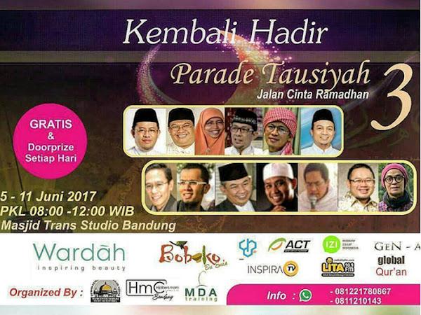 Parade Tausiyah 3 di Masjid Agung Trans Studio