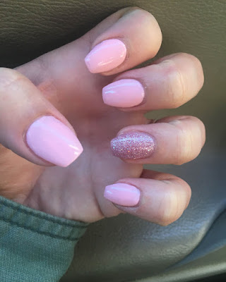 Ideas coffin nails desings short pink trendy 2019