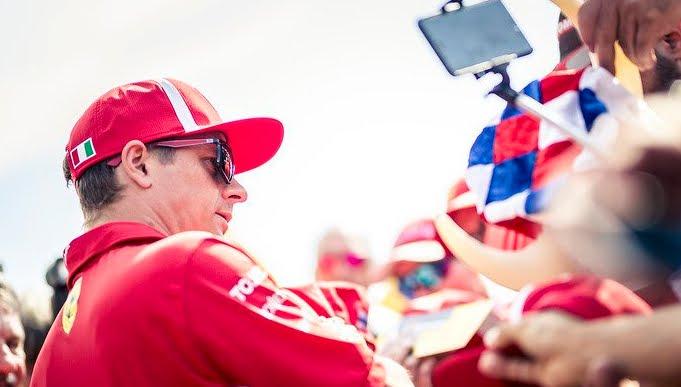 Ferrari sul podio nel Gp Francia di Formula 1 con Raikkonen, Vettel 5°