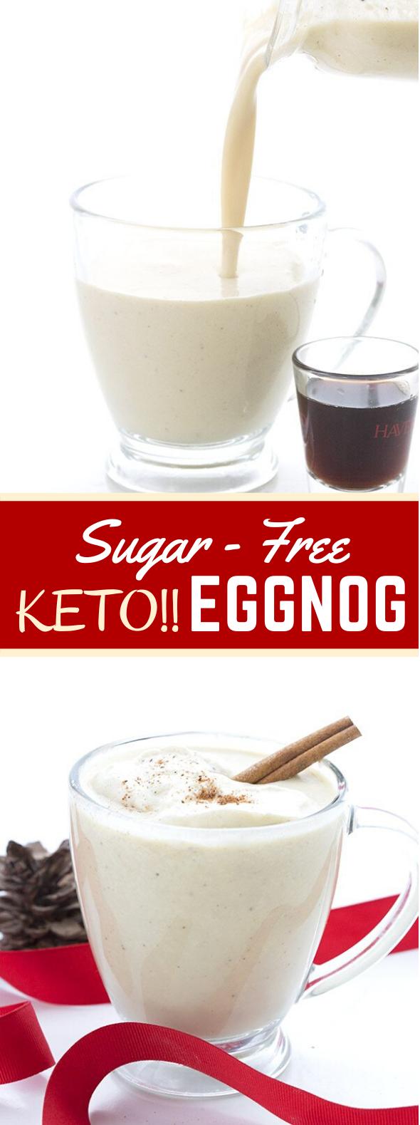 KETO ALMOND MILK EGGNOG #healthydrink #dairyfree