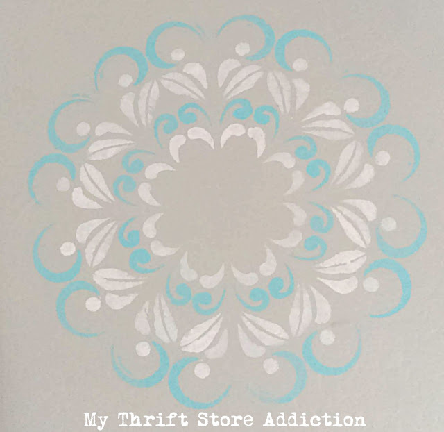 DIY painted and stenciled floor