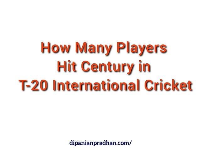 Kuinka monta pelaajaa pisteytyi vuosisadalla ICC T20 World Cup -historiassa