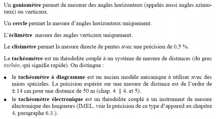 Théodolite, angles horizontaux, angles verticaux, appareil, mesure électronique, distances, trépied, Géométrie, angle horizontal, calcul de gisement, les topographes, calculs de coordonnées,
