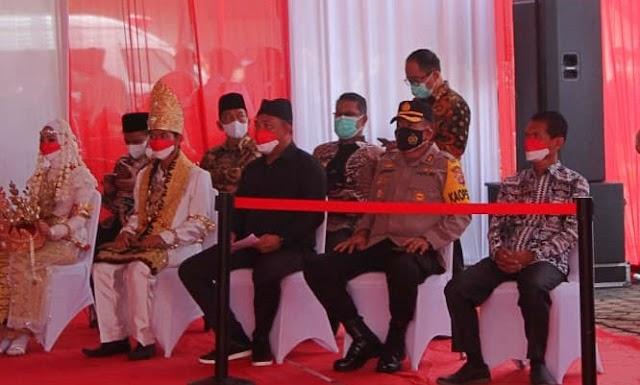 Kapolres Tubaba Hadiri dan Apresiasi Serbuan Vaksinasi BIN Lampung di SMKN 1 Tulang Bawang Tengah