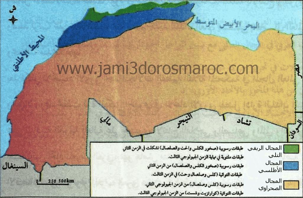 خريطة المجالات البنيوية في المغرب العربي