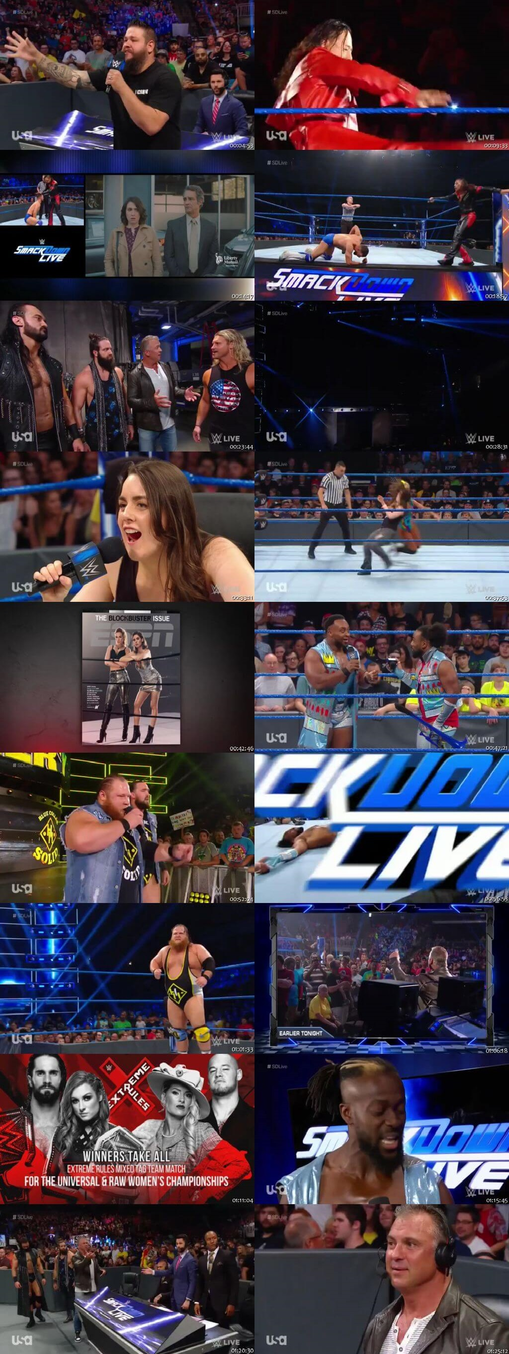Screen Shot Of WWE SmackDown Live 9th July 2019 HDTV 480P 300MB