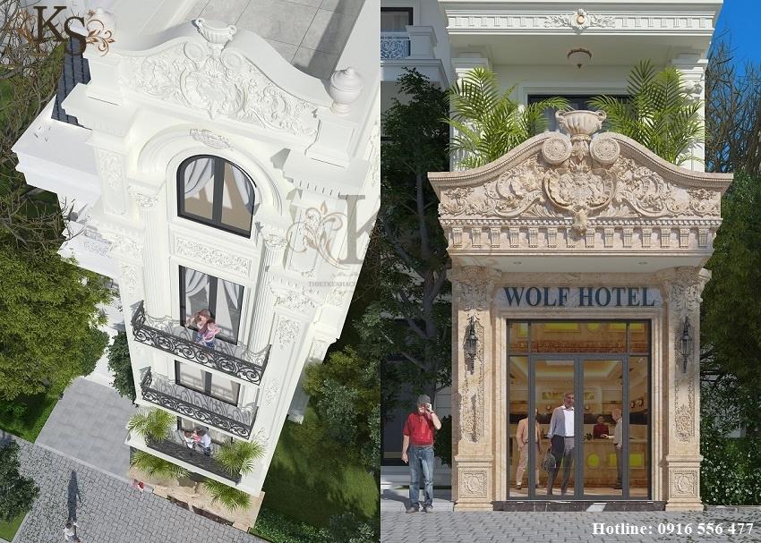 Hình ảnh: Những chi tiết trang trí thể hiện sự khéo léo của nghệ thuật Pháp trong thiết kế khách sạn mini.