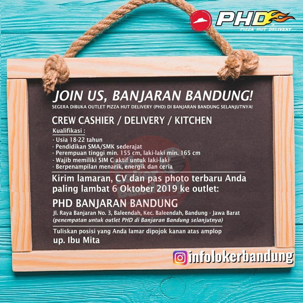 Lowongan Kerja Pizza Hut Delivery (PHD) Banjaran Bandung September 2019