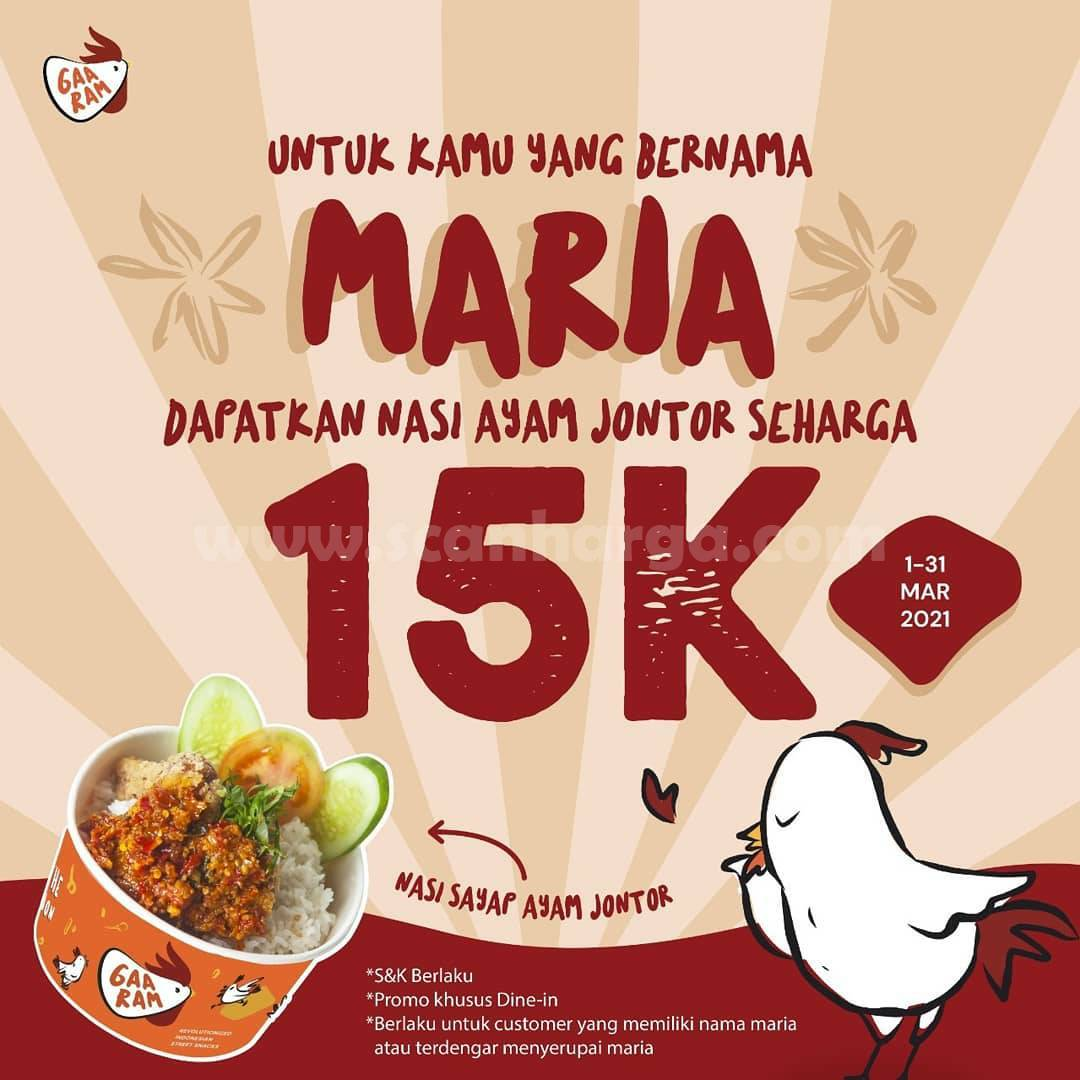 Promo Gaaram Terbaru - Paket Maria Maret Ceria DISKON 15% oFF