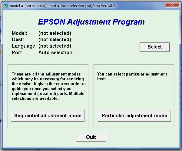 printer resetter: Adjustment programs for EPSON L380 L383