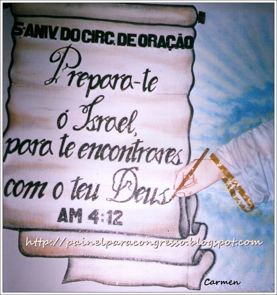 Festividade de igreja com tema   /   Amós 4:12