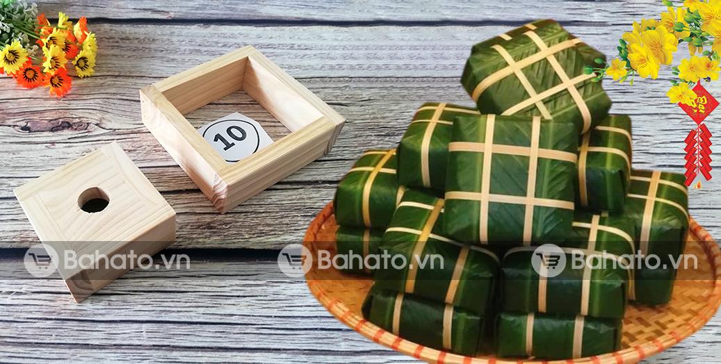 Khuôn làm bánh chưng thông minh Bahato 10cm