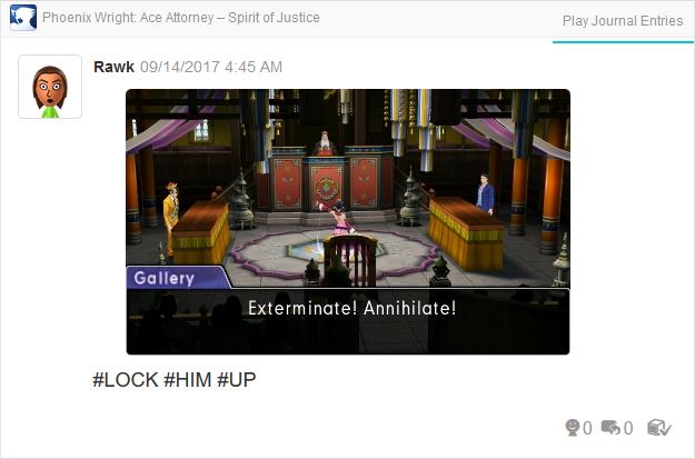 Phoenix Wright Ace Attorney Spirit of Justice exterminate annihilate