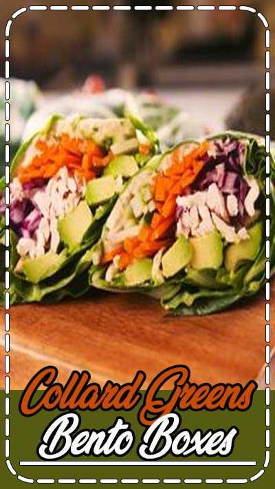 We're newly obsessed with collard greens—their not as flimsy as, say, romaine so you can create a hefty wrap with them. If you'd rather use another green, cabbage could totally work here. Get the recipe at Delish.com. #delish #easy #recipe #collard #collardgreens #bento #boxes #mealprep #healthy #diet #lunch #hummus