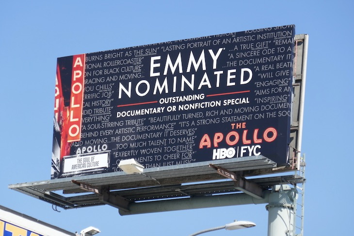Apollo 2020 Emmy nominee billboard