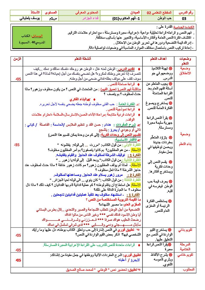 مذكرات اللغة العربية للسنة الثانية متوسط الجيل الثاني 14890481_299143217151399_503838551875315038_o