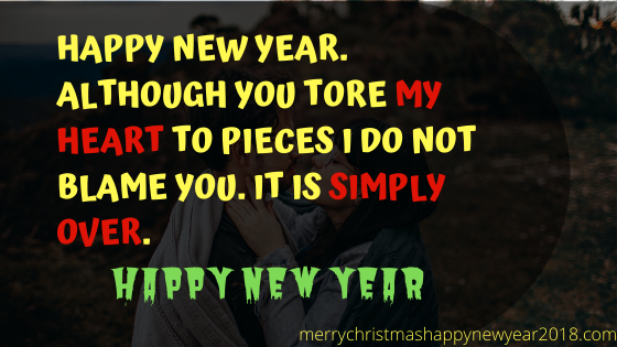 Happy New Year Whatsapp Status for Ex Boyfriend