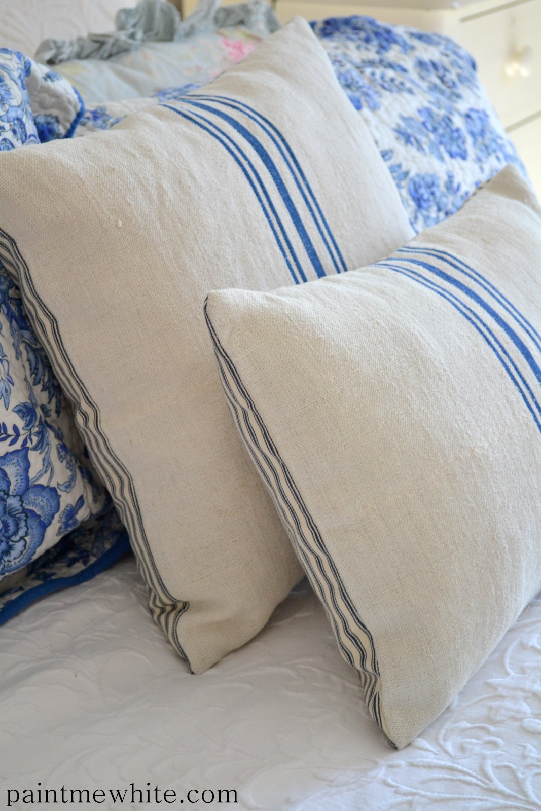 French Grainsack Cushions Now In Stock Paint Me White