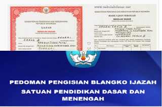Petunjuk Pengisian Blangko Ijazah SD Terbaru 2017