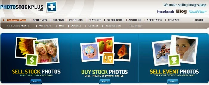 Como vender fotos pela internet - site Photostockplus