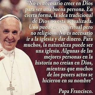 Frase del Papa Francisco para ser mejor persona