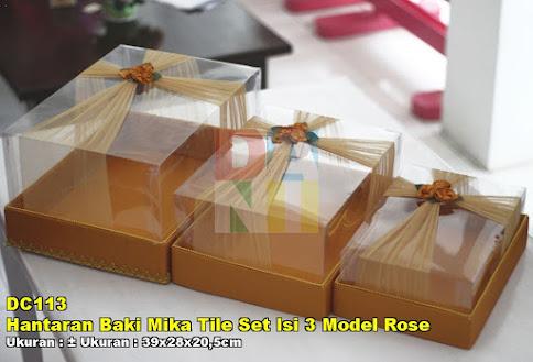 Hantaran Baki Mika Tile Set Isi 3 Model Rose
