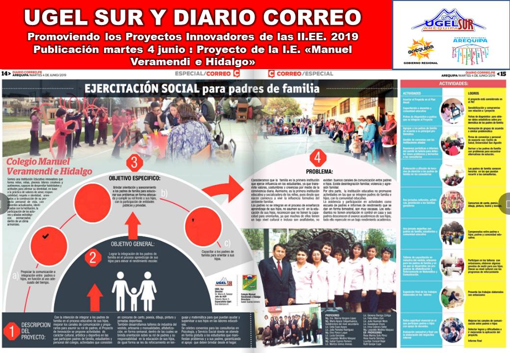 Publicación de Proyectos innovadores en los Colegios de Arequipa