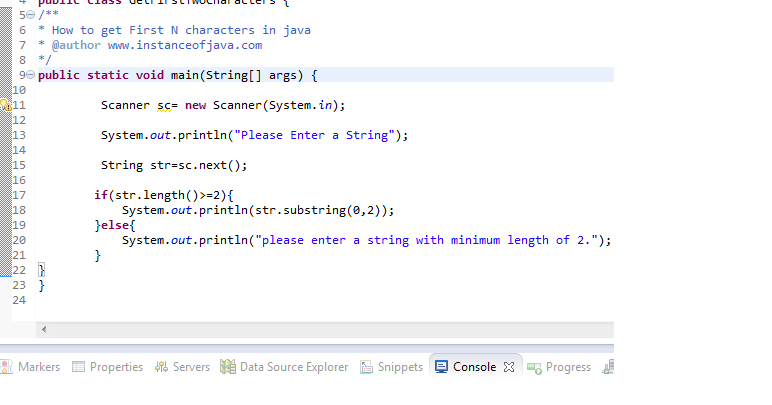 How to get first two characters of a string in java