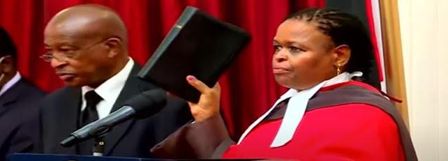 Justice Martha Koome swearing in photo