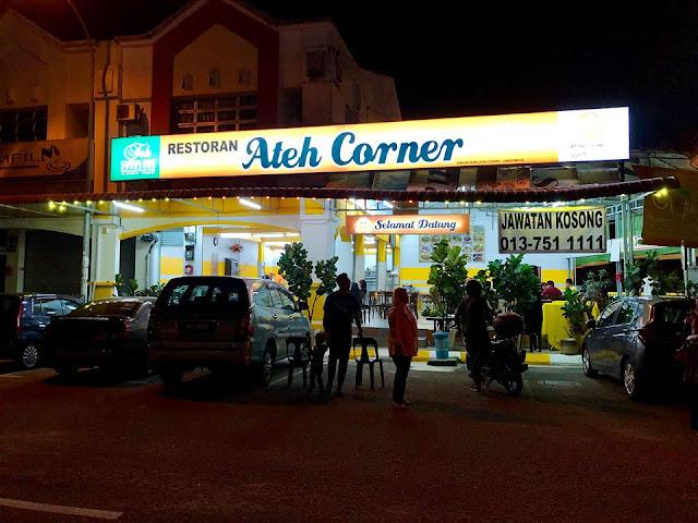 Tempat makan Best di Taman Universiti, Skudai Restoran Ateh Corner