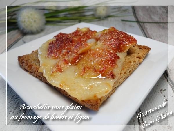 Bruschetta aux figues et fromage de brebis
