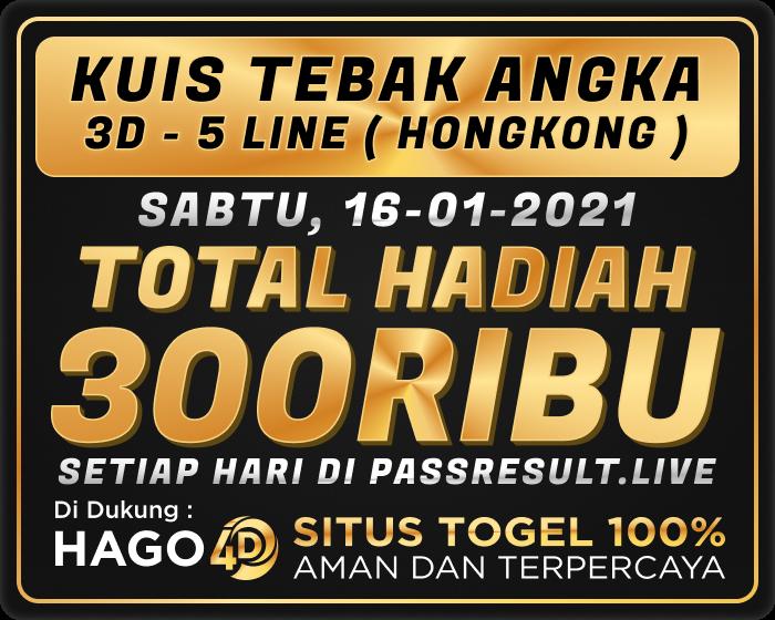 Kuis Tebak Angka Hongkong 13 Januari 2021
