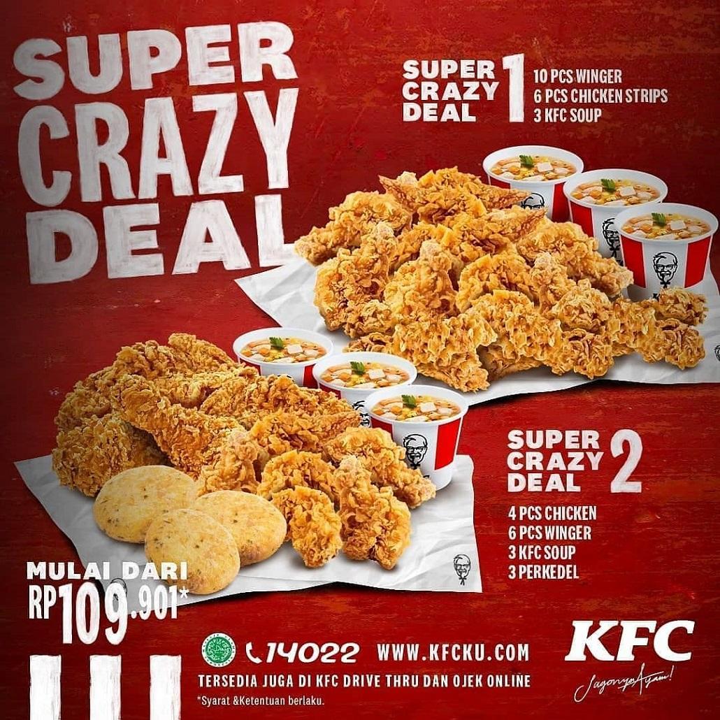 BARU dari KFC! Paket Super Crazy Deal Harga Mulai Rp 109.901