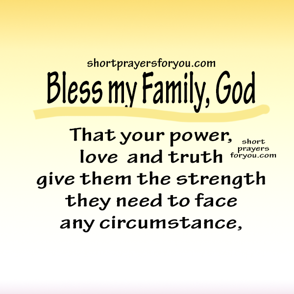 christian prayer for my family blessings