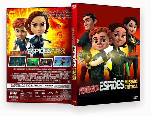 CAPA DVD – Pequenos Espiões Missão Crítica DVD-R
