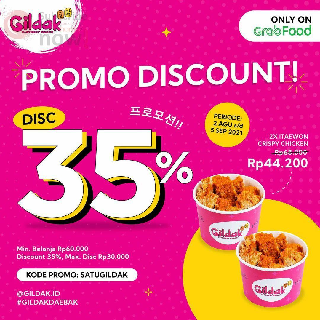 GILDAK Promo DISCOUNT Up to 35% via GRABFOOD